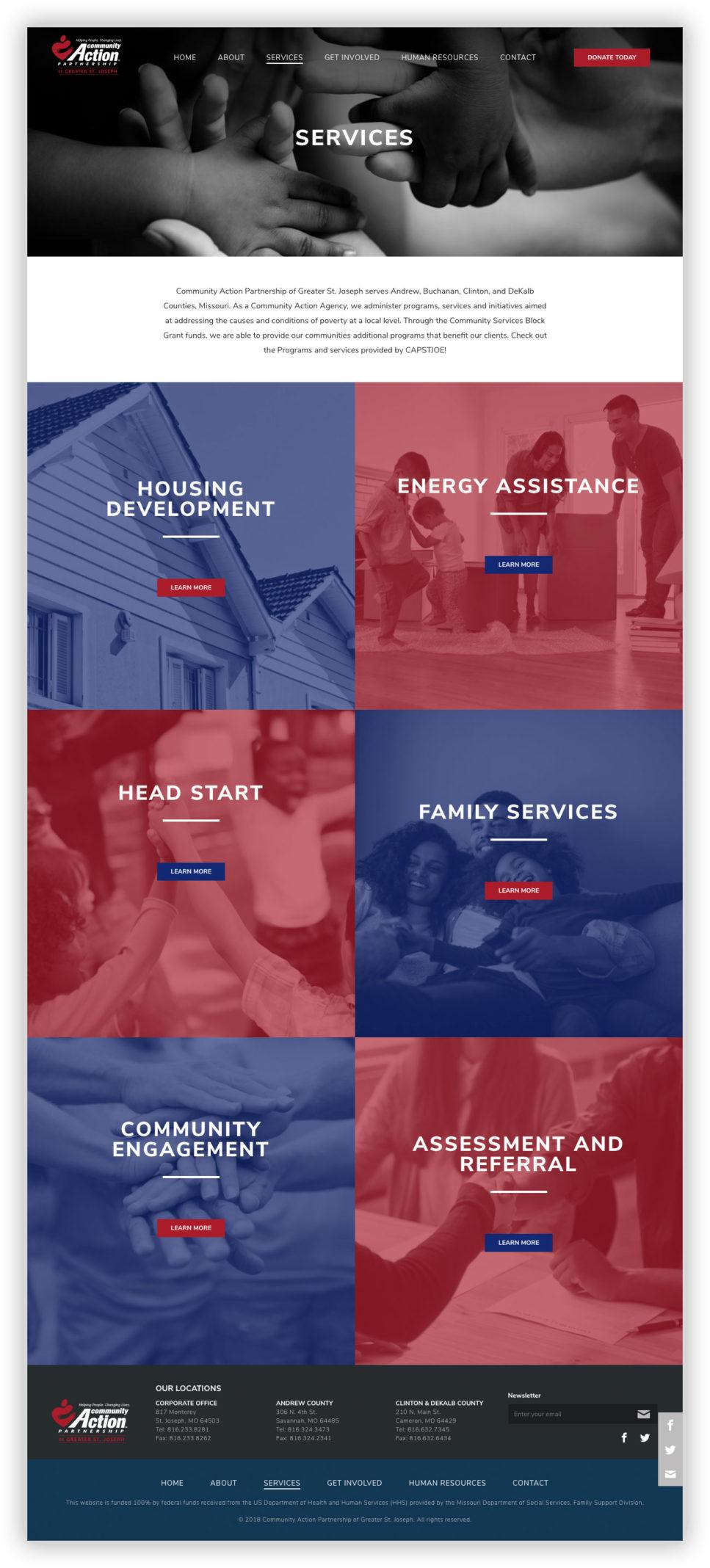 CAP Services Page