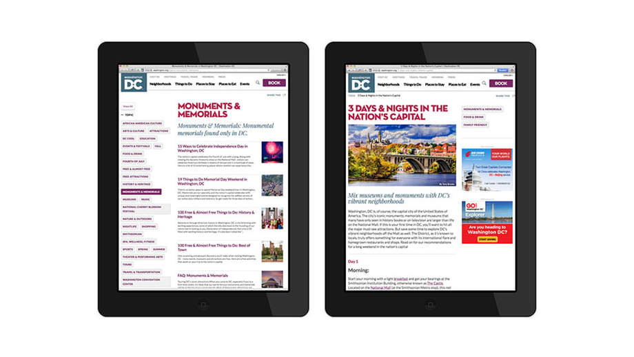 Washington.org on tablets