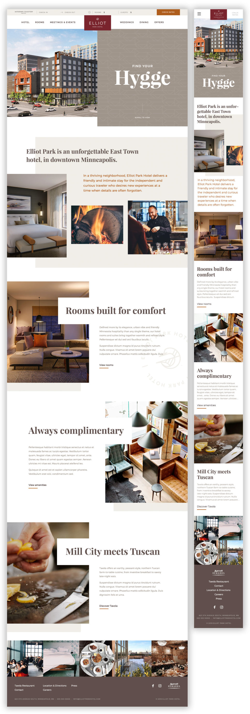 Homepage for the Elliot Park Hotel