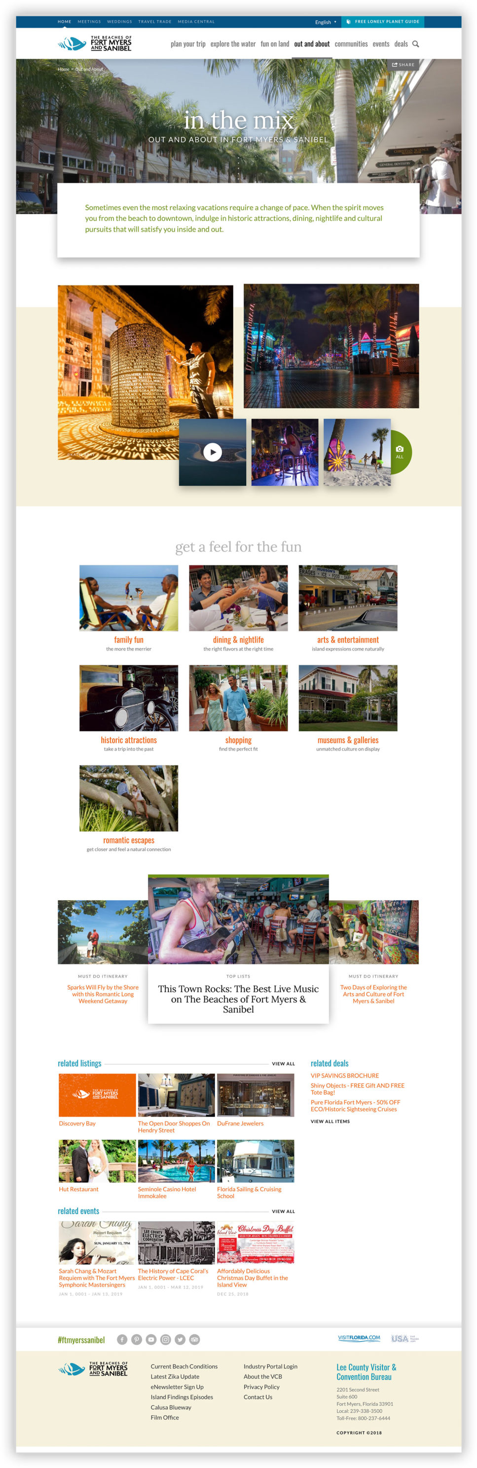 The Fort Myers/Sanibel neighborhood detail page